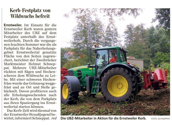 Ernstweiler Kerb - Presseartikel - Pfälzischer Merkur 10.10.2012